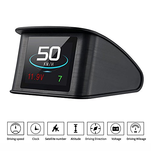 TIMPROVE T600 Universal Car HUD Head Up Display Digital GPS Speedometer with Speedup Test Brake Test Overspeed...