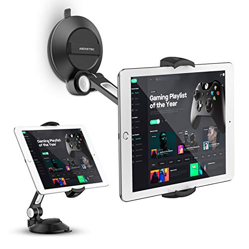 """AboveTEK Phone Tablet Stand Holder with Suction Cup Fits 4-11"""", Large Sticky Pad Tablet Mount on Kitchen..."""