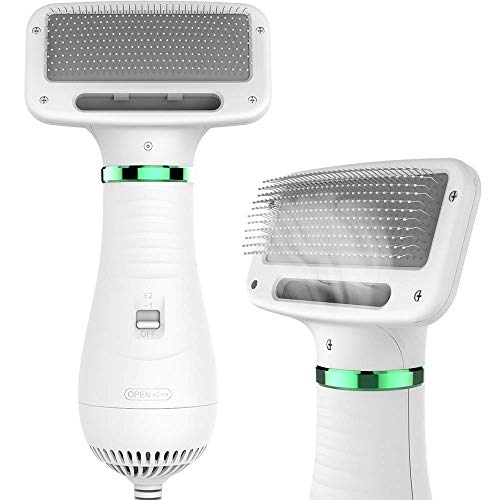 LIVEKEY Pet Hair Dryer, 2 in 1 Pet Grooming Hair Dryer with Slicker Brush, Home Dog Hair Dryer with Adjustable...