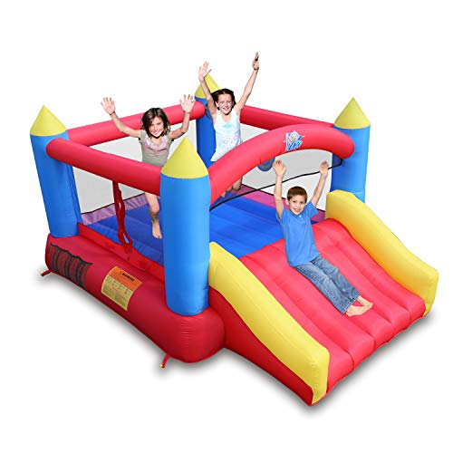 ACTION AIR [Updated Version Bounce House, Inflatable Bouncer Without Air Blower, 450W/0.6HP Blower Needed to...