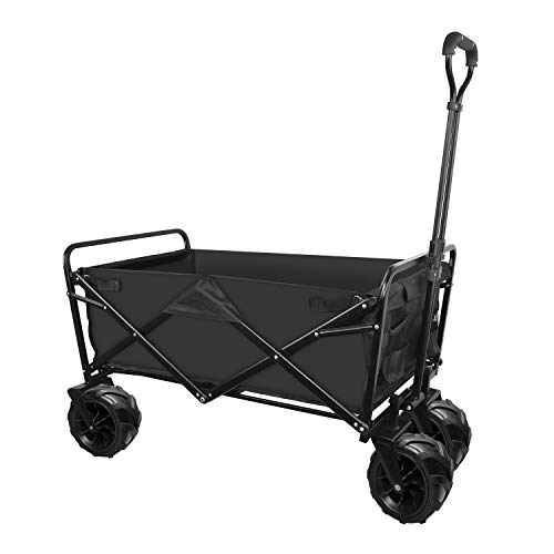 Wagon Collapsible with Beach Wheels Outdoor Utility Folding Camping Beach Cart Heavy Duty