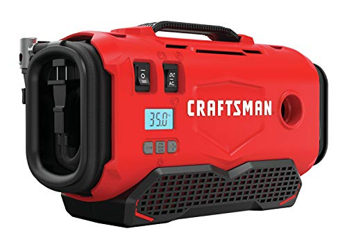 CRAFTSMAN V20 Inflator, Tool Only (CMCE520B),Red