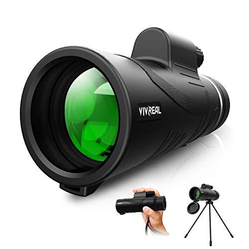 Monocular Telescope - 12X42 High Power Monocular for Bird Watching, IPX7 Waterproof HD Monocular with Tripod...