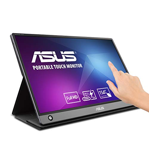 Asus Zenscreen MB16AMT 15.6' Full HD Portable Monitor Touch Screen IPS Non-Glare Built-in Battery and Speakers...