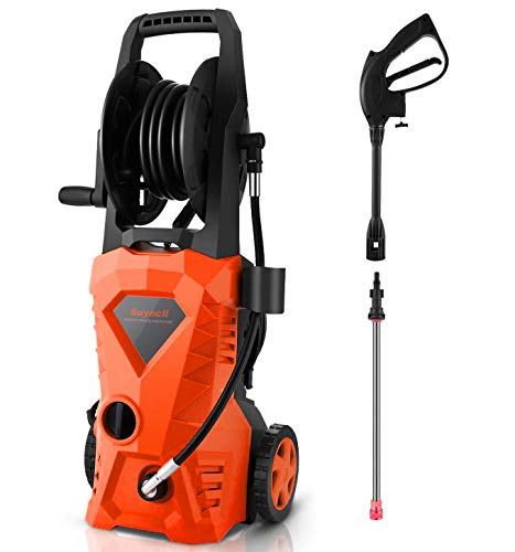 Suyncll Pressure Washer 3000PSI Electric Power Washer with Hose Reel and Brush,High Pressure Washer for...