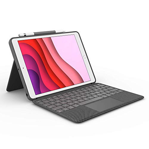 Logitech Combo Touch for iPad (7th, 8th and 9th Generation) Keyboard case with trackpad, Wireless Keyboard,...