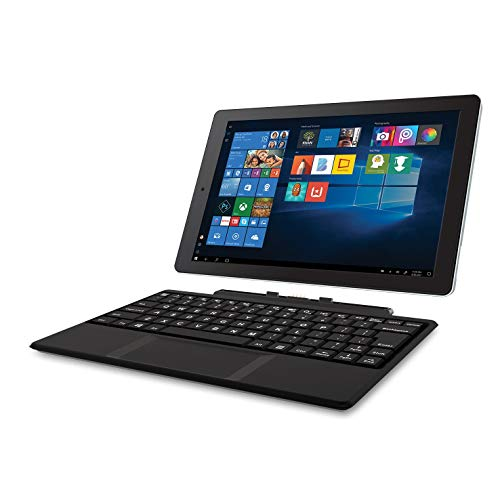 RCA Cambio 10.1' 2 in 1 32GB Tablet with Windows 10, Intel Atom Z8350 2GB RAM, Includes Keyboard