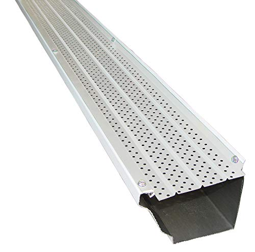 FlexxPoint 30 Year Gutter Cover System, White Commercial 6' Gutter Guards, 102'
