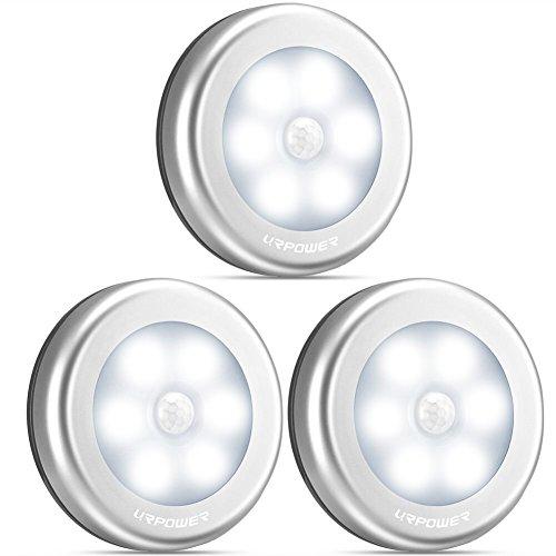 URPOWER Motion Sensor Closet Light, Motion-sensing Battery Powered LED Stick-Anywhere Nightlight,Wall Light...
