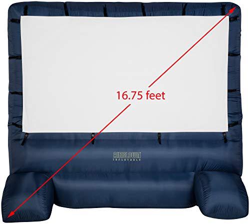 Gemmy 39127-32 - Airblown - Movie Screen - 120'x70' Widescreen Deluxe w/Storage Bag - Blue
