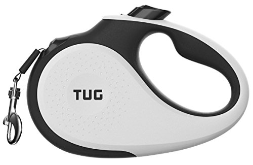 TUG 360° Tangle-Free, Heavy Duty Retractable Dog Leash for Up to 55 lb Dogs; 16 ft Strong Nylon Tape/Ribbon;...
