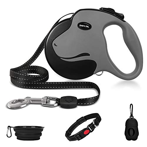 Babyltrl Upgraded Heavy Duty Retractable Dog Leash, 360° Tangle-Free Large Dog Retractable Leash up to...