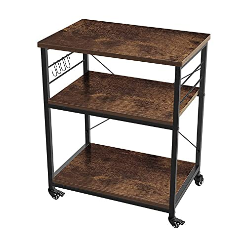 AZL1 Life Concept 3-Tier Kitchen Rack Utility Microwave Oven Stand Movable Cart Workstation Shelf Pantries,...