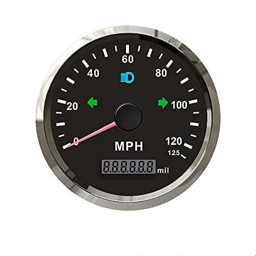 ELING MPH GPS Speedometer Odometer 125MPH Mileage Adjustable Overspeed Alarm for Boat Car Truck Motorcycle...