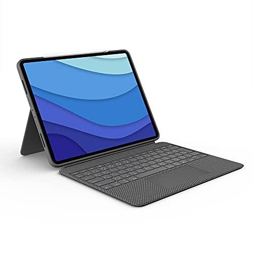 Logitech Combo Touch iPad Pro 12.9-inch (5th gen - 2021) Keyboard Case - Detachable Backlit Keyboard with...