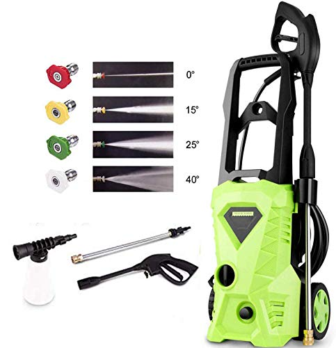Homdox Pressure Washer, Power Washer with 2600 PSI,1.6GPM, (4) Nozzle Adapter, Longer Cables and Hoses and...