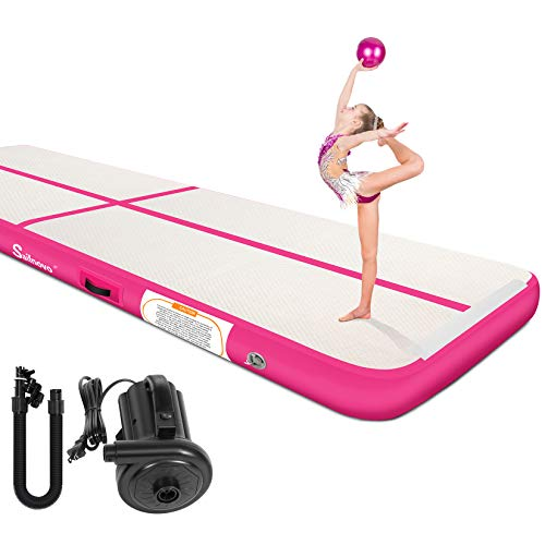 Air Track, Sailnovo Inflatable Gymnastics Air Mat Training Tumbling Mat with Electric Pump,20/16/13/10ft,4/8in...