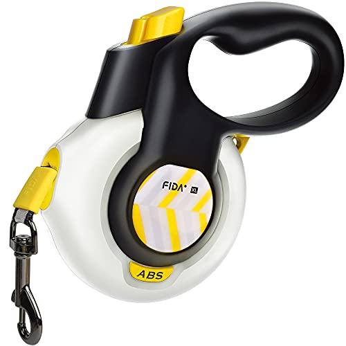 FIDA AutoBrake Retractable Dog Leash. Advanced Patented Design for Dog Pulling, 16 ft Heavy Duty Pet Walking...