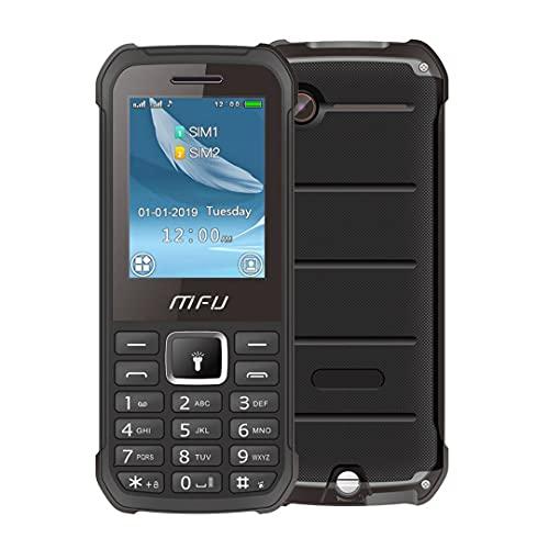 MFU A608 2.4 Inch Dual-SIM GSM Rugged Unlocked Feature Phone, Easy to use Senior SIM Free Mobile Phone Basic...