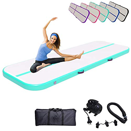 Inflatable Airtrack Gymnastics Tumbling Mat 10ft 13ft 16ft 20ft Air Track with Electric Air Pump for Gymnastic...