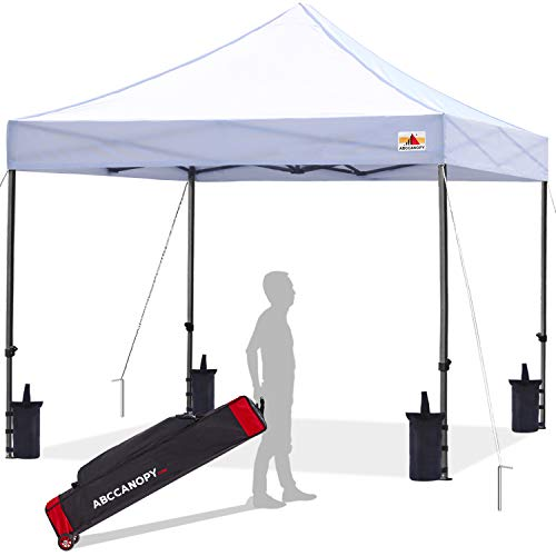 ABCCANOPY Patio Pop Up Canopy Tent 10x10 Commercial-Series (White)