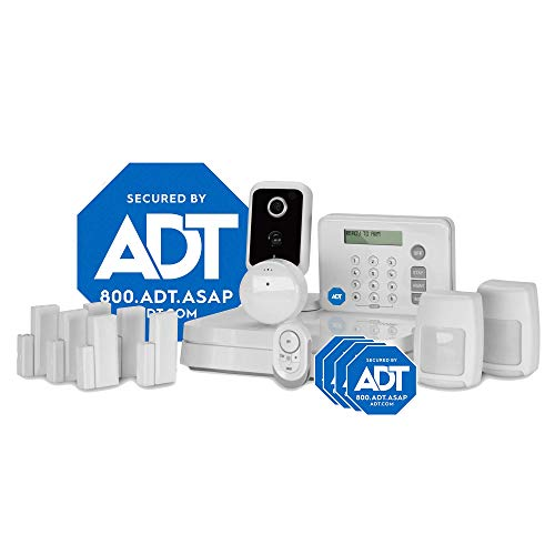 ADT DIY LifeShield 15-Piece Easy, Smart Home Security System - Optional 24/7 Monitoring - Smart Camera - No...