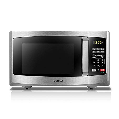 Toshiba EM925A5A-SS Microwave Oven with Sound On/Off ECO Mode and LED Lighting, 0.9 Cu Ft/900W, Stainless...