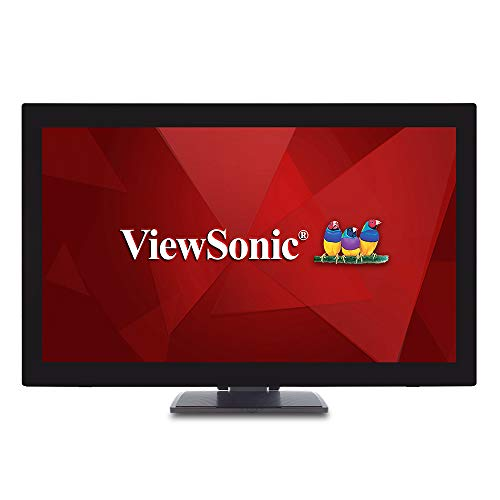 ViewSonic TD2760 27 Inch 1080p 10-Point Multi Touch Screen Monitor with Advanced Ergonomics RS232 HDMI and...