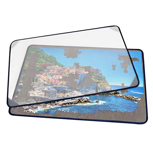 Tektalk Jigsaw Puzzle Board Portable Puzzle Mat with Puzzle Dustproof Cover for Puzzle Storage Puzzle Saver,...