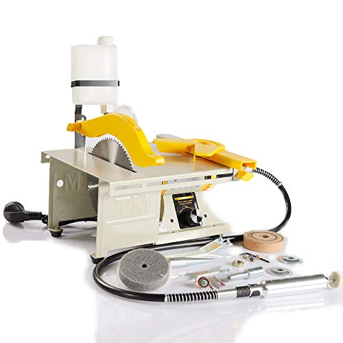 LIBAOTML Mini Table Saw, Multifunctional Table Saw, Bench Grinder, Polishing Machine, Cutting Machine for...