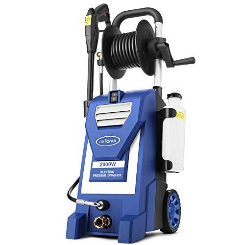 3800PSI Electric Pressure Washer,3.0GPM Electric Power Washer 2000W High Pressure Washer with Hose Reel for...