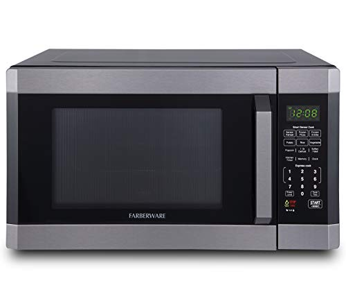 Farberware FMO16AHTBSD Microwave Oven with Smart Sensor Cooking, ECO Mode and LED Lighting, 1.6 Cu. Ft, Black...