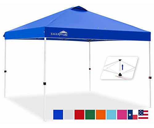 EAGLE PEAK 10' x 10' Pop Up Canopy Tent Instant Outdoor Canopy Easy Set-up Straight Leg Folding Shelter with...
