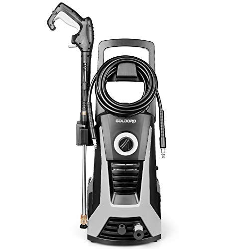 GOLDORO High Pressure Washer, 3000PSI 2.6 GPM Electric Power Washer, 1800W High Power Cleaner with Metal...