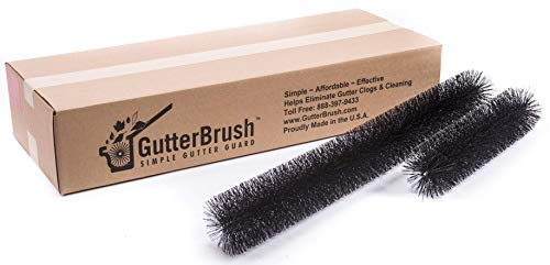 The GutterBrush Simple Gutter Guard | for Standard 5' Gutters | Easy, No Tools DIY Gutter Leaf Guard (30 Ft)