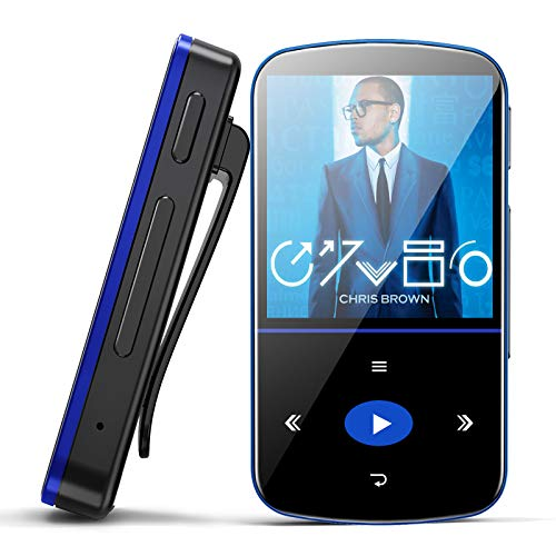 32GB Mini MP3 Player, Mibao MP3 Player with Bluetooth, Portable Music Player with Clip, Sport Pedometer, FM...