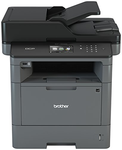 Brother Monochrome Laser Printer, Multifunction Printer and Copier, DCP-L5500DN, Flexible Network...