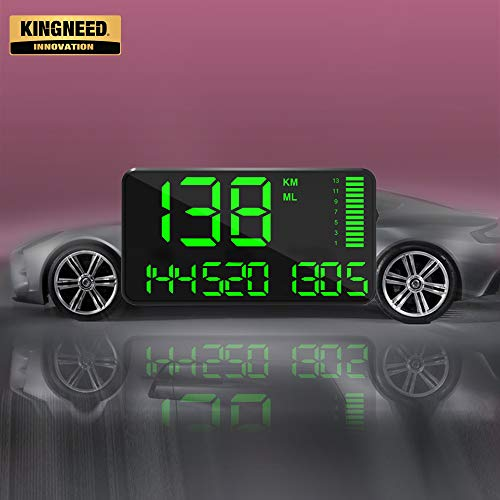 Kingneed GPS Speedometer Odometer HUD Digital Display 5.5 inch MPH/KMH with Over Speeding Alarm for All Cars...