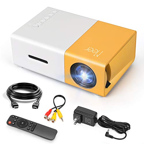 Mini Projector, Meer Portable Pico Full Color LED LCD Video Projector for Children Present, Video TV Movie,...