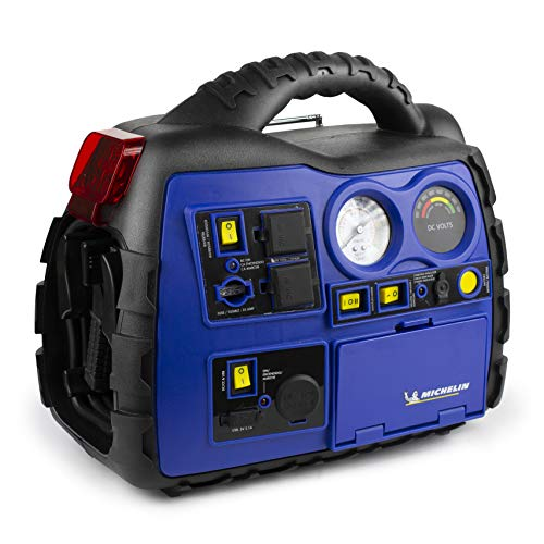 MICHELIN ML0728 Power Source XR1 Portable 1000 Amps Jump Starter with Air Compressor and 400 Watt Peak Surge...