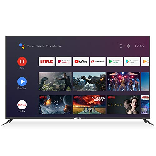 SANSUI 75 Inch 4K Smart TV Ultra HD Smart Android LED TV HDR with Dolby Sound Voice Remote, Built-in Google...