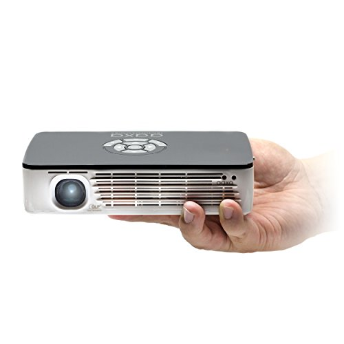 AAXA KP-700-01 P700 WXGA LED Pico Projector, 650 Lumens, 70+ Min Battery, Native 1280x800 HD Resolution,...