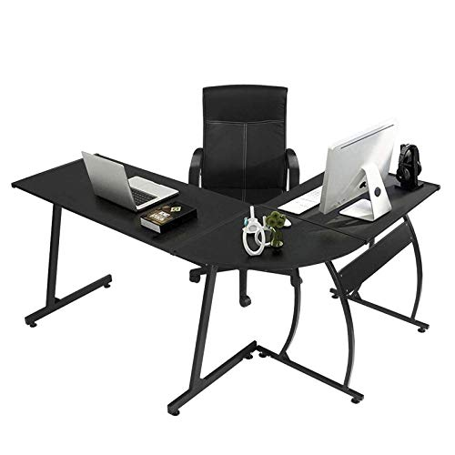 GreenForest L Shaped Gaming Computer Desk 58.1'',L-Shape Corner Gaming Table,Writing Studying PC Laptop...