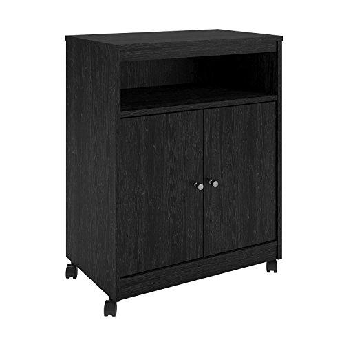 Ameriwood Home Landry Microwave Cart, Black Oak