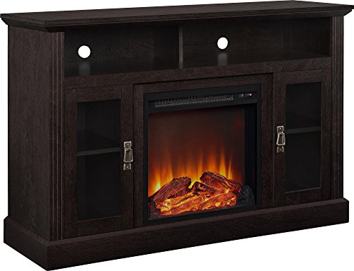 Ameriwood Home Chicago Electric Fireplace TV Console for TVs up to a 50', Espresso,1764096PCOM