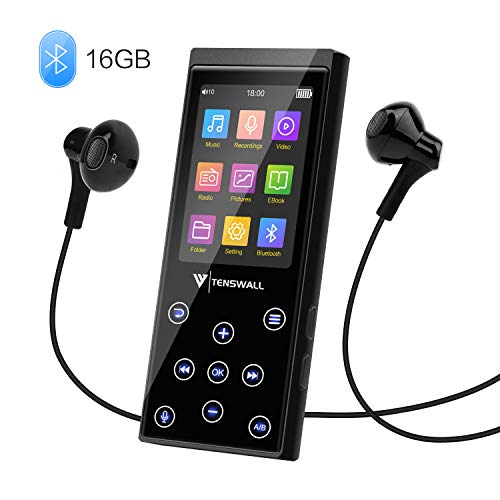 MP3 Player, 16GB MP3 Player with Bluetooth 4.2, Portable HiFi Lossless Sound MP3 Music Player with FM Radio...