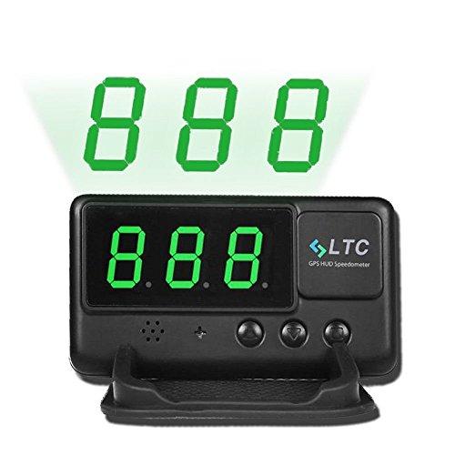 LeaningTech Original Digital Universal Car HUD GPS Speedometer Overspeed Alarm Windshield Project for All...
