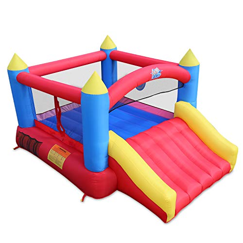 ACTION AIR [Updated Version Bounce House, Inflatable Bouncer with Air Blower, Jumping Castle with Slide,...