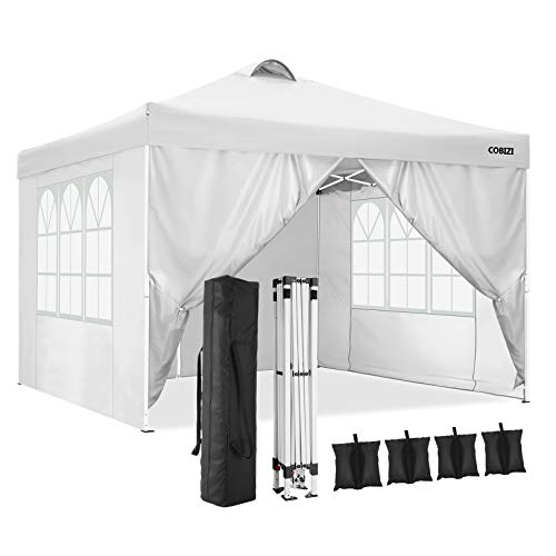 COBIZI Canopy Tent Popup Canopy 10x10 Commercial Instant Canopies Gazebo with Vent, Outdoor Party Canopies...