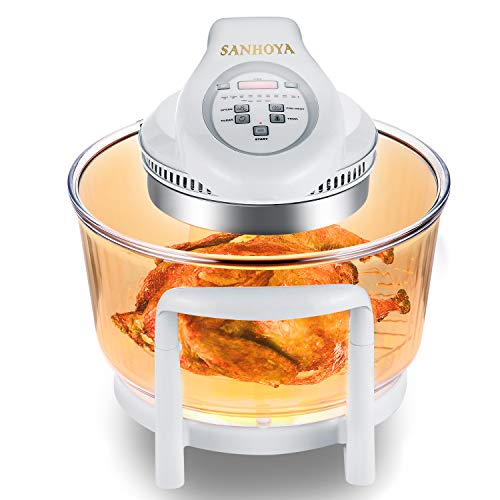 SANHOYA Convection Oven, French Arcopal Glass Bowl 12L-17L Oil Free Cooker, Halogen Convection Toaster Air...